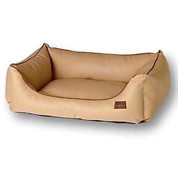 dogbed Jack Alcantara tipo piel feebee dogwear® dünenbraun de perros Cojín cama para perros Perros cesta Cachorro cama XS - XL: Amazon.es: Productos para ...
