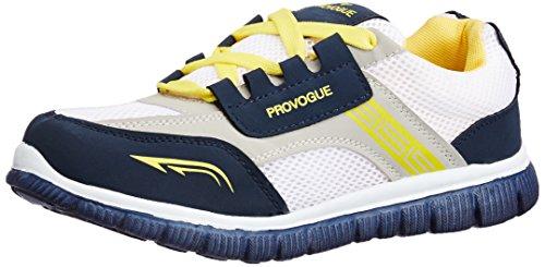 Provogue Men's Grey and Yellow Mesh Running Shoes - 8 UK