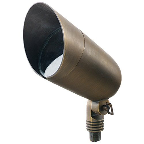 Best Quality Lighting LV70AB Finished Outdoor Up Light with Clear Glass Shade, Bronze