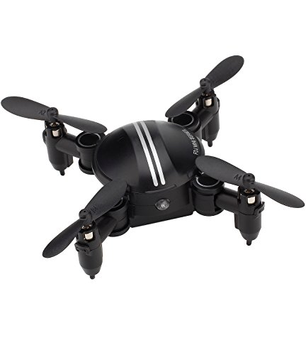 TOZO mini Drone RC Quadcopter Altitude Hold Headless RTF 3D 360 Degree Flips & Rolls 6-Axis Gyro 4CH 2.4Ghz Remote Control Helicopter Height Hold Steady Super Easy Fly for Training. Black