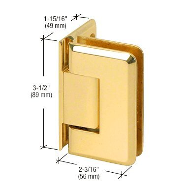CRL Pinnacle 044 Series Ultra Brass Wall Mount Offset Back Plate Hinge