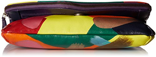 Women��s Painted Leather Clutch Painterly small Anuschka Hand Palette bag F4ad7aq