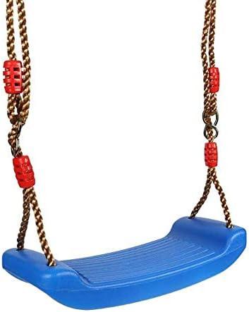 guomao 高さ調節可能なロープで屋外のおもちゃを吊るすプラスチックガーデンスイング子供屋内屋外おもちゃレインボーカーブボードスイングチェア