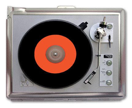 Turntable Record Player Photo Retro Cigarette Case for sale  Delivered anywhere in USA