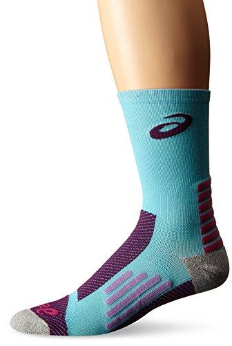 ASICS Rally Crew Running Socks, Turquoise/Purple, Small ()