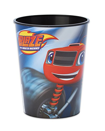 Daring Blaze and the Monster Machines Birthday Party Plastic Favour Cup (1 Piece), Blue, 16oz capacity. -