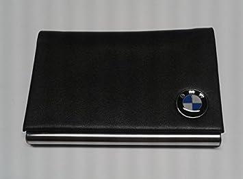 Bmw genuine black faux leather metal business card holder amazon bmw genuine black faux leather metal business card holder colourmoves