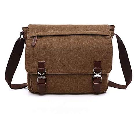 Amazon.com: Canvas Laptop Messenger Bag School Shoulder ...