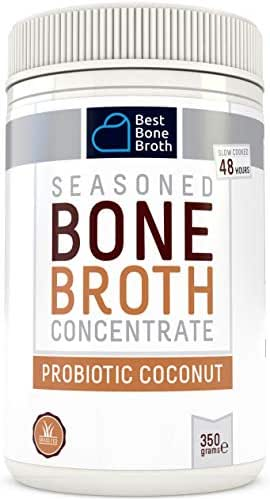 Beef Bone Broth Concentrate with Coconut and Papaya - Rich in Collagen to Help Improve Gut Health, Skin Firmness and Healthy Hair - Great for Keto and Paleo - Grass Fed, Hormone Free