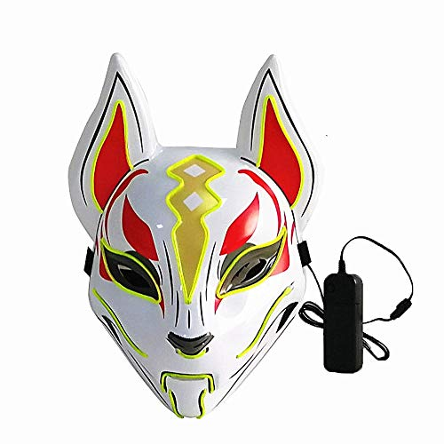 Different Flash Costumes (Moonideal Led Light UP Game Fox Mask | Neon Line Halloween Mask | Sound Induction Mask Controller | Flash with Music 4 Different Mode (Light)