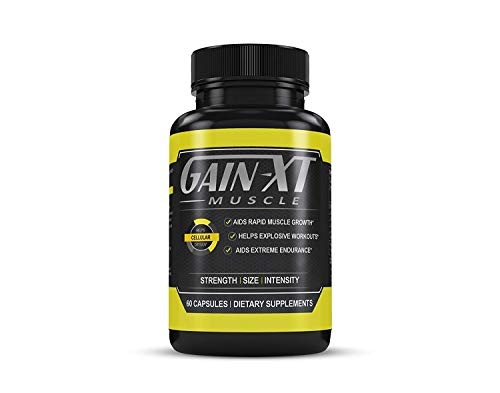 Muscle Amplifier Pump (Muscle Builder & Testosterone Booster by Gain-XT — Dietary Supplement With Horny Goat Weed, L-Arginine, L-Citrulline, Calcium — Natural Amplifier for Energy, Performance and Endurance — 60 Capsules)