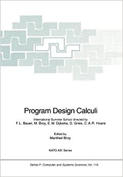 Book Program Design Calculi (Nato ASI Subseries F:)
