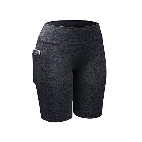 Beyonds Women High Waist Pocket Yoga Pants Weight Loss Workout Yoga Leggings Gray
