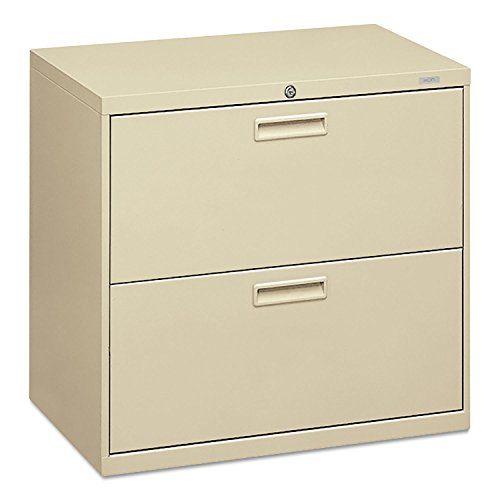 HON 2-Drawer Office Filing Cabinet - 500 Series Lateral File Cabinet, 19.25