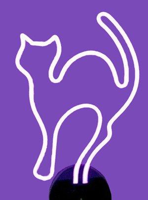 Neonetics Business Signs Cat Neon Sign Sculpture, Purple by Neonetics