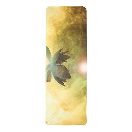 Warrior lotus – the premium designer eco mat/towel combination yoga mat with raw hemp yoga strap