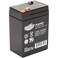 Interstate Batteries 6V 4.5AH Sealed Lead Acid (SLA) Battery (AGM) - .187 FASTON Spade Terminals (SLA0905) Genuine Interstate Batteries