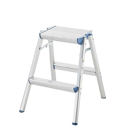 Taburetes Escalera Escalera Estable Escalera en Espiga Plegable en casa Silla Fotografía Decoración Estante de Almacenamiento Regalo (Color : Silver, Size : 45 * 54 * 56cm): Amazon.es: Hogar