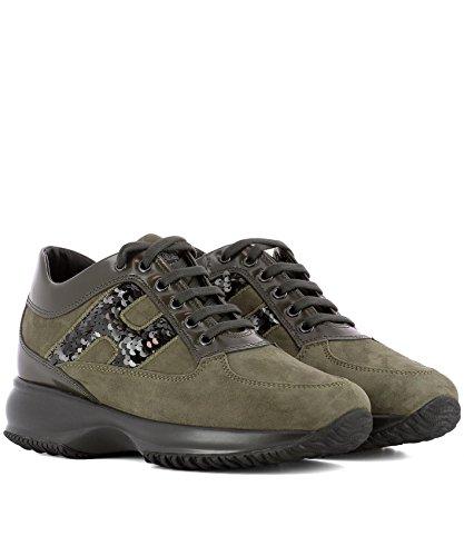 Zapatillas HXW00N0S360H6G47R9 Mujer Gamuza Hogan Verde Cw1ICq