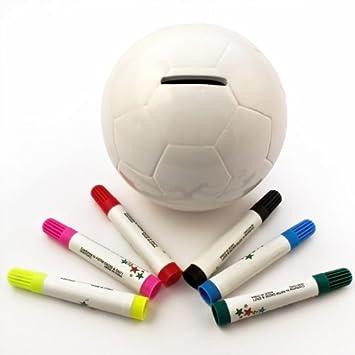 Hucha forma balón - Cerámica - Con rotuladores para pintar: Amazon ...