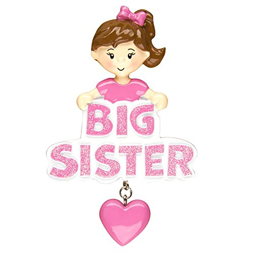 Big Sister Personalized Christmas Tree (Big Sister Personalized Ornament)
