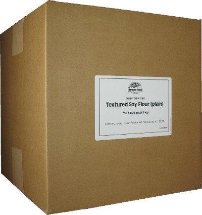 Harmony House Foods Textured Soy Flour, Plain (15 Lbs Bulk Box) - Set of 6 by Harmony House Foods (Image #2)