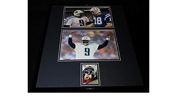 sale retailer 3f230 5ddaa Autographed Steve McNair Photo - Framed 16x20 Rookie Card ...