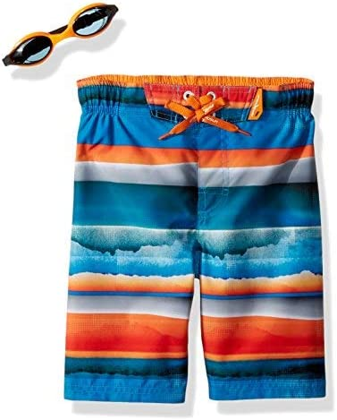 Little Boy's Surf UPF 50 + Swim Trunks with Goggles Popsicle 4 [並行輸入品]
