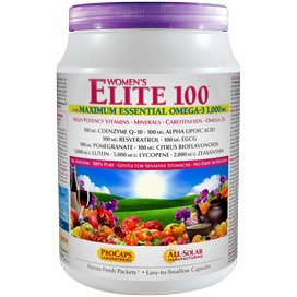 Multivitamin - Women's Elite-100 with Maximum Essential Omega-3 1,000 mg 60 Packets (60 Women Packets)