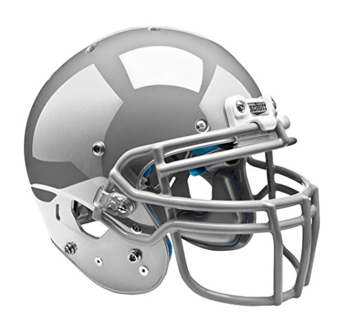 AiR XP Pro Football Helmet (Faceguard Not Included), Metallic Silver, Medium ()