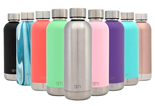 Simple Modern 17oz Bolt Sports Water Bottle - Stainless Steel - Double Wall Vacuum Insulated - Leak Proof Bottle -Simple -