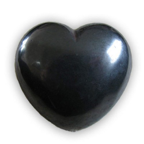 Puffy Heart 45mm Crystal Healing Pocket Stone - HEMATITE
