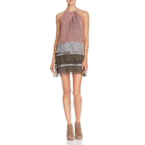 Sage Terra Cotta - Ramy Brook Women's Printed Leomi Dress, Terracotta/Black/White/Sage, Medium