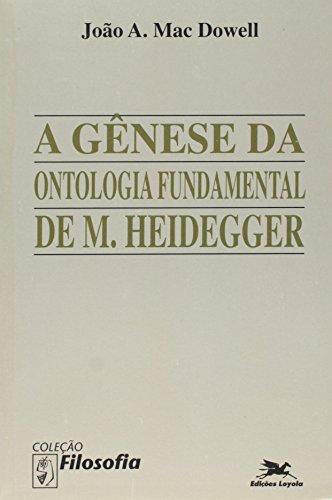 A gênese da ontologia fundamental de M. Heidegger