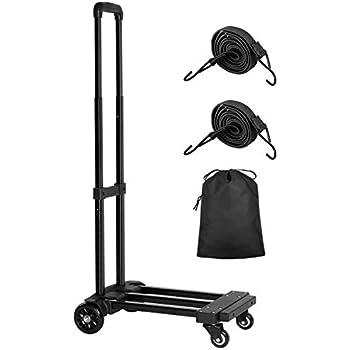 Amazon.com: Graspwind Carro de equipaje plegable, 3 pliegues ...