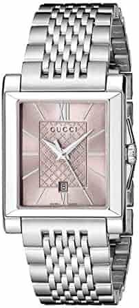 b56d41be068 Gucci Gucci G-Timeless Rectangle Analog Display Swiss Quartz Silver Men s  Watch(Model