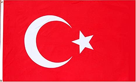 Turkey National Country Flag - 3x5foot poly