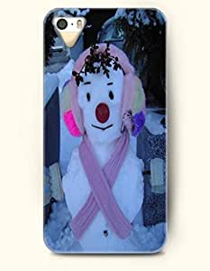 OOFIT iPhone 5 5s Case - Snowladu With Earmuff And Pink Scarf