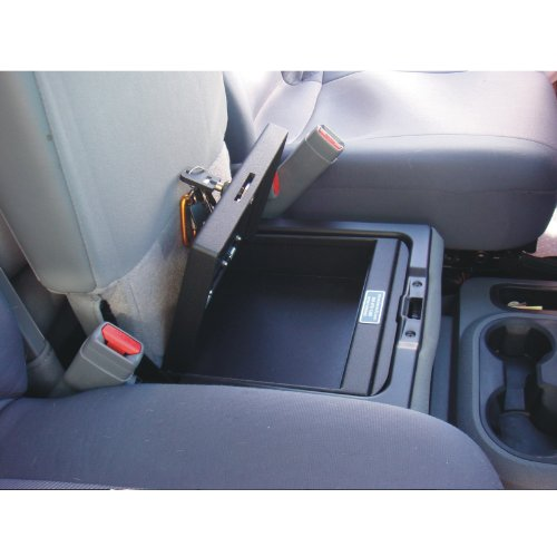 Console Vault Dodge Ram Under Seat 2000-2005 - 1004Dodge - Massive 12 Gauge Cold Rolled Plate Steel, Welded Tab And Notch Seams - Superior 3 Point Locking System Resists Prying - Drill Resistant Locks - Easy 10 Minute Installation