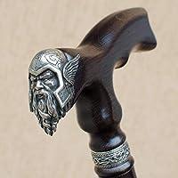 Fashionable Walking Canes for Men - Viking Thor - Carved Men's Cane - Fancy Stylish Wooden Walking Sticks