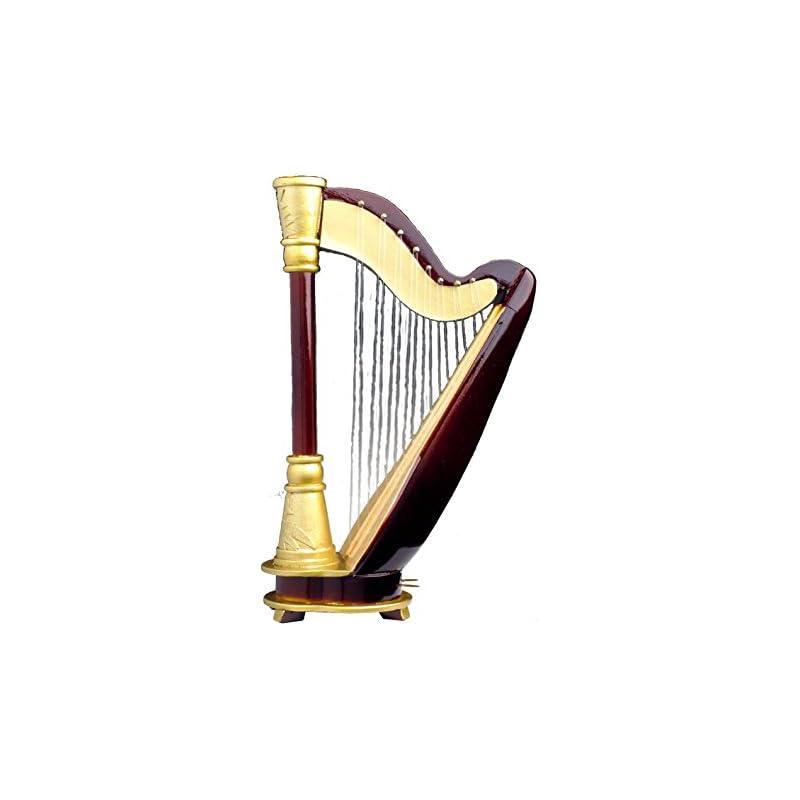 Harp 18 Note w Case Music Box Replica Mu