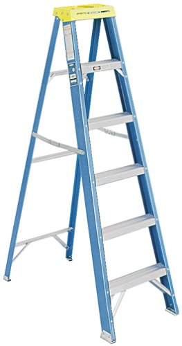 Werner 6006 250-Pound Duty Rating Type I Fiberglass Stepladder, 6-Foot by Werner
