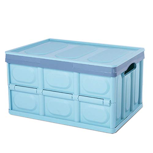 Hitommy 522936CM Foldable Car Trunk Storage Box Backup Sundries Organizer Holder Basket - Blue