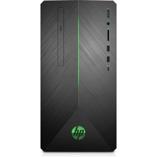 HP Pavilion Gaming Desktop AMD Ryzen 5-Series 8GB Memory AMD Radeon RX 580 1TB Hard Drive + 128GB Solid State Drive Shadow Black With A Brushed Hairline Pattern 690-0024