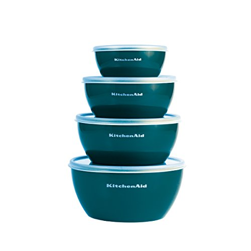 Clear Bowl Cover - KitchenAid Prep Bowls with Lids, Set of 4, Deep Teal