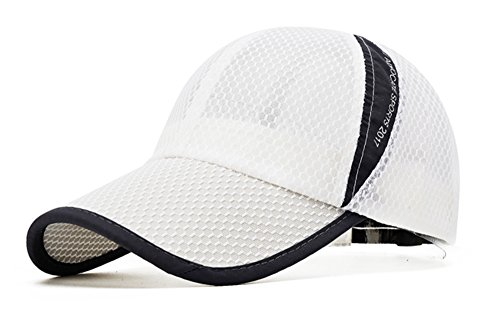 Ellewin Unisex Breathable Quick Dry Mesh Baseball Cap Sun Hat(B-White) (Golfers Sun Protection)
