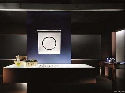 elica io 80cm cooker hood white and lighting bar