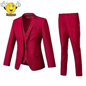 High-End Suits 3 Pieces Suit Men Slim Fit Wedding Suit for Men Two Buttons Blazer Tux Vest & Trousers