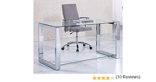 a89331962869e Due-Home 2454140031 - Mesa de Escritorio Office - Color - Metal Cromado   Amazon.es  Hogar