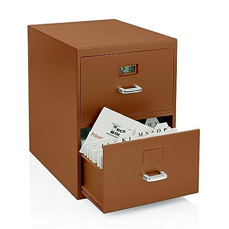 Amazon.com: Miniatura Mueble archivador para tarjetas de ...